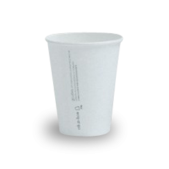 12oz PLA Lined White Single Wall Coffee Cup