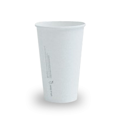 16oz PLA Lined White Single Wall Coffee Cup