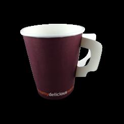 285ml DWC with Handle Single Wall Coffee Cup