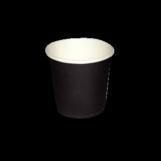 4oz Plain Black Single Wall Coffee Cup