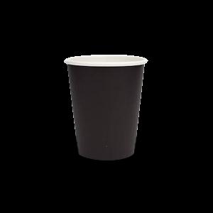 6oz Plain Black Single Wall Coffee Cup