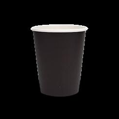8oz Plain Black Single Wall Coffee Cup