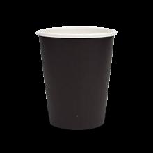 12oz Plain Black Single Wall Coffee Cup