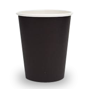 16oz Plain Black Single Wall Coffee Cup
