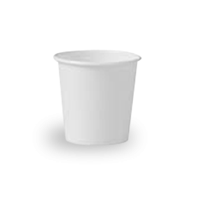 4oz White Single Wall Coffee Cup