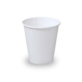 6oz White Single Wall Coffee Cup