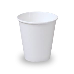 8oz White Single Wall Coffee Cup