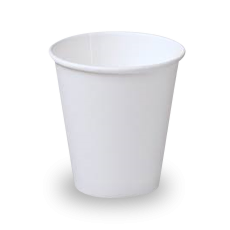 12oz White Single Wall Coffee Cup