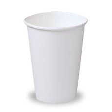 16oz White Single Wall Coffee Cup