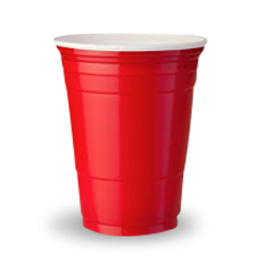 18oz (100Dx282) Red Plastic Party Cup