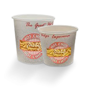8oz (80Dx75) Tasty Hot Paper Chip Cup