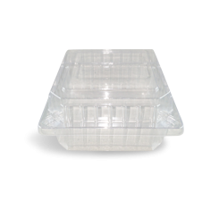 Burger / Roll (110x110x60) Clear Hinged Plastic Container