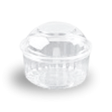 12oz (341ml,110Dx85) Clear Dome Hinged Lid Plastic Show Bowl