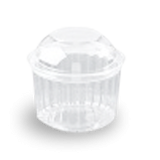 16oz (455ml,110Dx105) Clear Dome Hinged Lid Plastic Show Bowl
