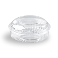 20oz (568ml,170Dx70) Clear Dome Hinged Lid Plastic Show Bowl