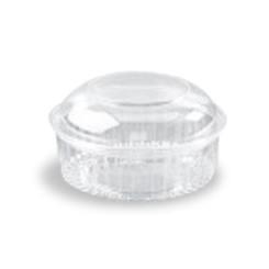 24oz (682ml,170Dx90) Clear Dome Hinged Lid Plastic Show Bowl