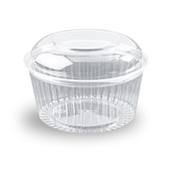 48oz (1364ml,170Dx110) Clear Dome Hinged Lid Plastic Show Bowl