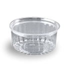 8oz (227ml,110Dx42) Clear Flat Hinged Lid Plastic Show Bowl