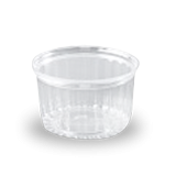 16oz (455ml,110Dx78) Clear Flat Hinged Lid Plastic Show Bowl
