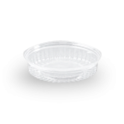 20oz (568ml,170Dx40) Clear Flat Hinged Lid Plastic Show Bowl