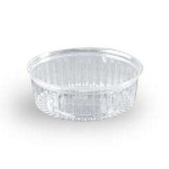 24oz (682ml,170Dx60) Clear Flat Hinged Lid Plastic Show Bowl