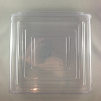 Large Lunch (250x240x75) Clear Hinged Plastic Container