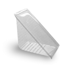 XL Sandwich Wedge (85x145x70w) Clear Hinged Plastic Container