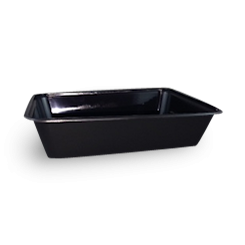 500ml (172x120x39) Black Rectangular Plastic Container