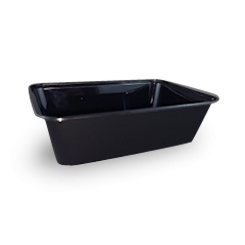 650ml (172x120x49) Black Rectangular Plastic Container