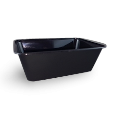 750ml (172x120x58) Black Rectangular Plastic Container