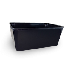 1000ml (172x120x71) Black Rectangular Plastic Container