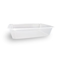 500ml (172x120x39) Clear Rectangular Plastic Container