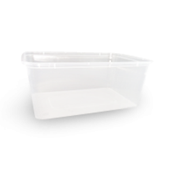 1000ml (172x120x71) Clear Rectangular Plastic Container