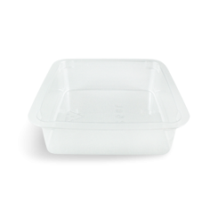 125ml (75x75x25) Clear Square PET Food Plastic Container