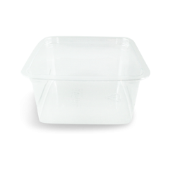 250ml (75x75x40) Clear Square PET Food Plastic Container