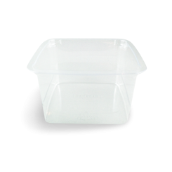 300ml (75x75x50) Clear Square PET Food Plastic Containers