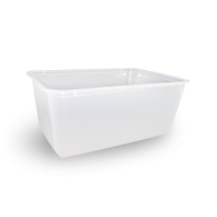 1000ml (172x120x71) Freezer Clear Rect Plastic Container
