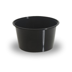 10oz/300ml (119Dx47) Black Round Plastic Container