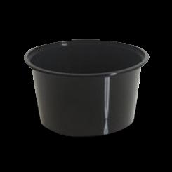 16oz/440ml (119Dx63) Black Round Plastic Container