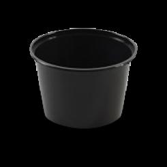 20oz/520ml (119Dx77) Black Round Plastic Container