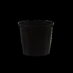 30oz/710ml (119Dx104) Black Round Plastic Container