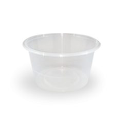 16oz/440ml (119Dx63) Freezer Clear Round Plastic Container
