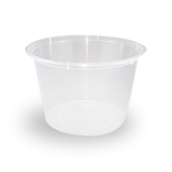 20oz/520ml (119Dx77) Freezer Clear Round Plastic Container
