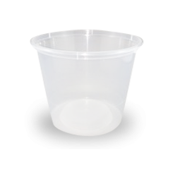 25oz/620ml (119Dx90) Clear Round Plastic Container