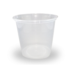 30oz/710ml (119Dx104) Freezer Clear Round Plastic Container