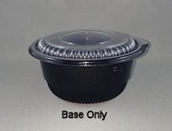 10oz/296ml (100Dx50) Black MicroWvb Round Food Plast Cont