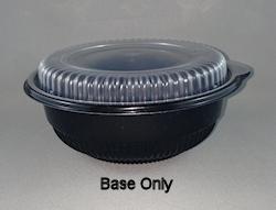 12oz/355ml (140Dx60) Black MicroWvb Round Food Plast Cont