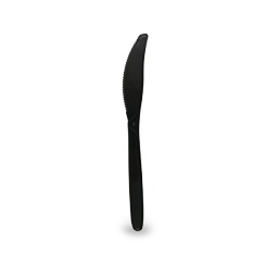 160mm Black Plastic Knife