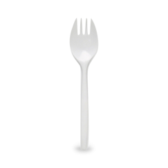 150mm White Plastic Spork