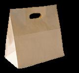 Medium DC (280+150x280h) Brown Die-Cut Handle Paper Bag